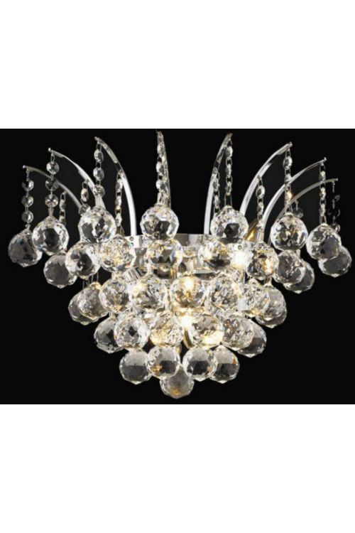 3 Light Transitional Empire Large Crystal Wall Sconce