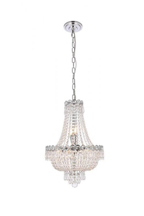 Empire 16 inch Wide 8 Light Transitional Mini Chandelier