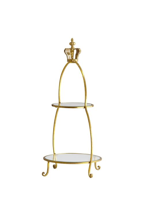 Cyan Design 04712 Crowned Two Tier Stand In Gold