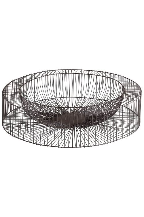 Cyan Design 05834 Large Wire Wheel Tray In Graphite