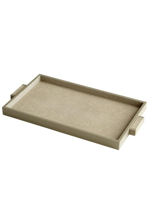 Cyan Design 06012 Medium Melrose Tray In Shagreen
