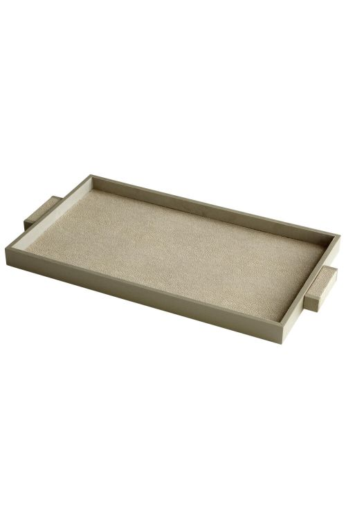 Cyan Design 06013 Large Melrose Tray In Shagreen