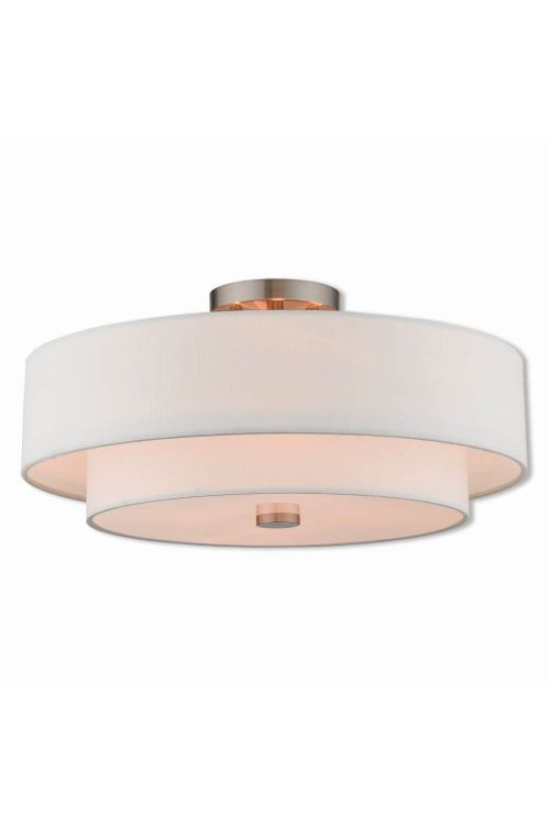 4 Light Brushed Nickel Ceiling Mount