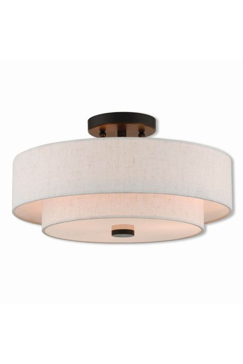 3 Light English Bronze Ceiling Mount
