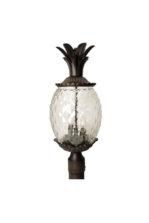 22 Inch Tall Pineapple Outdoor Post Mount Light