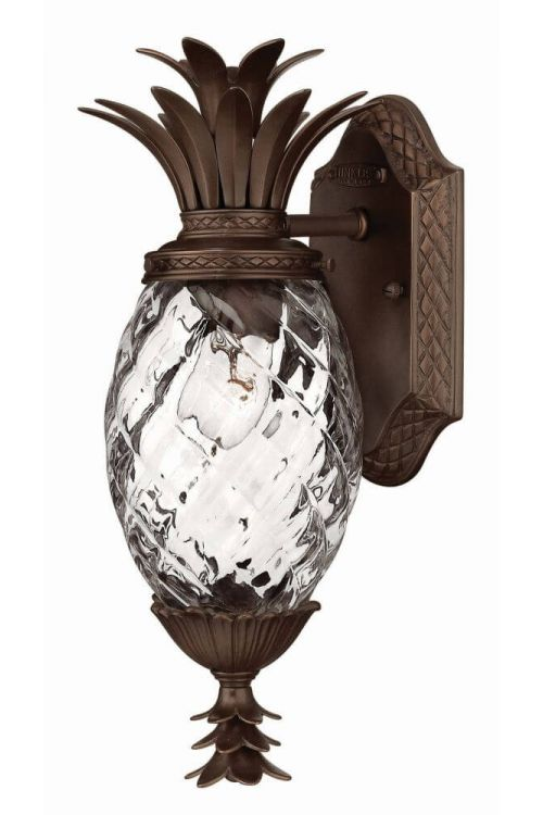 1 Light Small Copper Bronze Pineapple Outdoor Wall Sconce