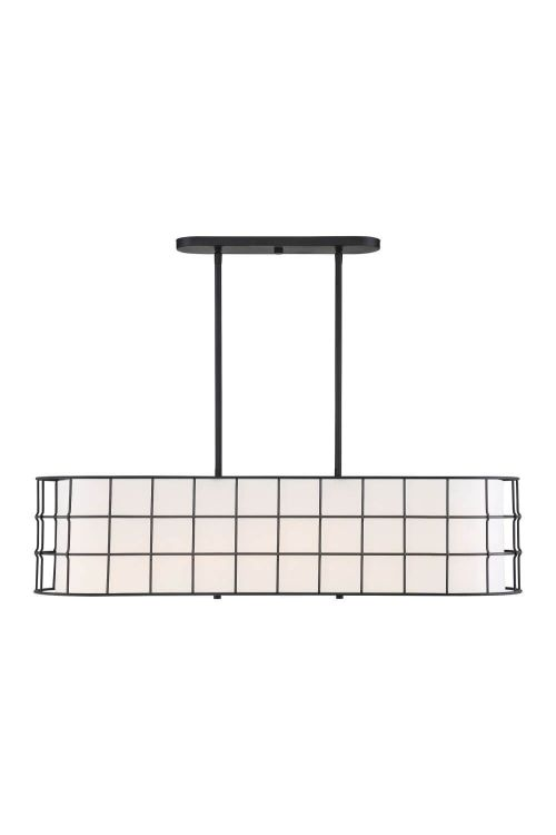 5 Light Contemporary Linear Chandelier