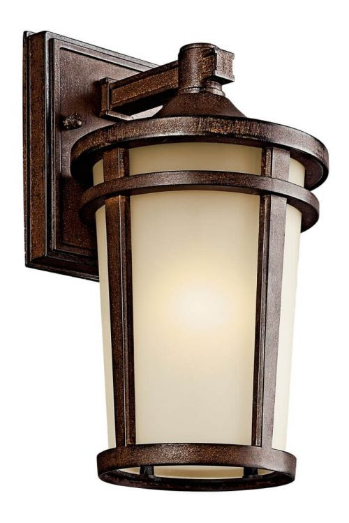 Outdoor Transitional Wall Sconce in Brown Stone