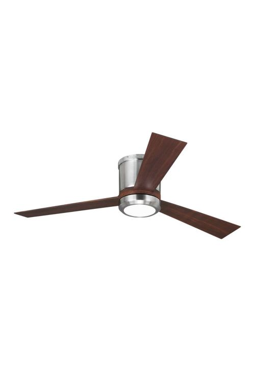 Monte Carlo 3CLYR52BSD Clarity 52 Inch Ceiling Fan In Brushed Steel