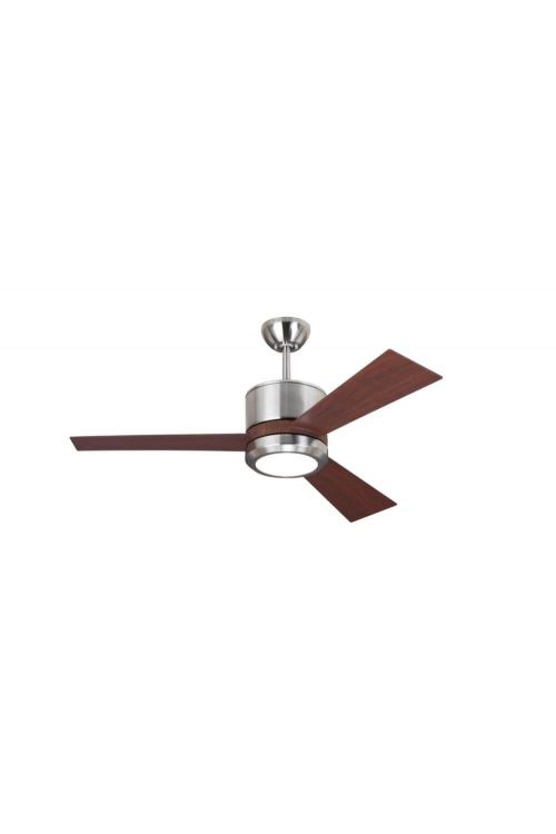 Monte Carlo 3VNR42BSD Vision II 42 Inch Ceiling Fan In Brushed Steel