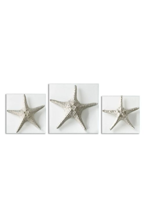 Uttermost 01129 Silver Starfish Wall Art Set of 3