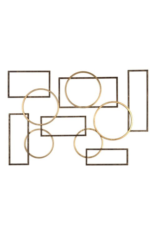 Uttermost 04062 Elias Bronze And Gold Wall Art