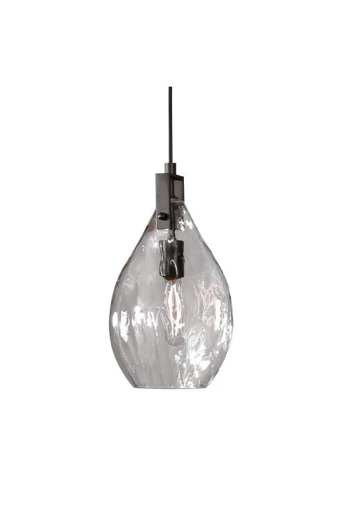 Uttermost 22049 Campester 1 Light Watered Glass Mini Pendant